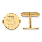 FSU Sterling Silver Yellow Gold Flash Plated Cufflinks