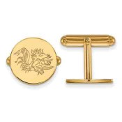SC Sterling Silver Yellow Gold Flash Plated Cufflinks