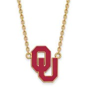 OU Sterling Silver Yellow Gold Flash Plated Pendant