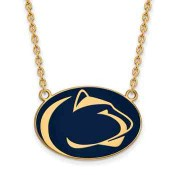 Penn State Sterling Silver Yellow Gold Flash Plated Pendant