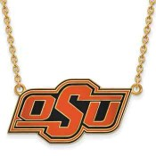 OSU Sterling Silver Yellow Gold Flash Plated Pendant
