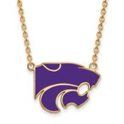 K-State Sterling Silver Yellow Gold Flash Plated Pendant