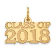 14k Yellow Gold Graduation Charm