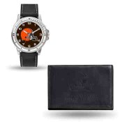Men's Cleveland Browns Black Faux Leather Watch & Wallet