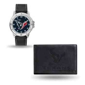 Men's Houston Texans Black Faux Leather Watch & Wallet