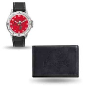 Men's Tampa Bay Buccaneers Black Faux Leather Watch & Wallet