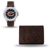 Men's Chicago Bears Brown Faux Leather Watch & Wallet