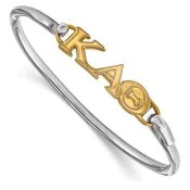 KAT Sterling Silver Yellow Gold Flash Plated Bangle