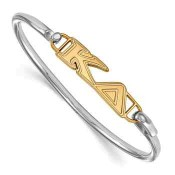 Kappa Delta Sterling Silver Yellow Gold Flash Plated Bangle