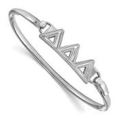 Tri Delta Sterling Silver Bangle