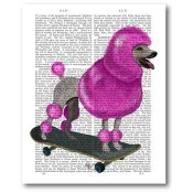 Pink Poodle on Skateboard 16