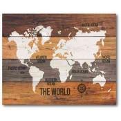 Wooden World Map 16