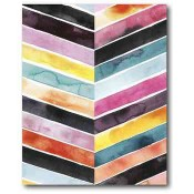 Vivid Watercolor Chevron II 16