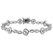 1/2 CT. T.W. Diamond Swirly Bracelet in Sterling Silver