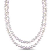 7mm Cultured Freshwater Pearl Dual Strand Necklace