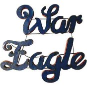 Auburn War Eagle Collegiate Metal Sign