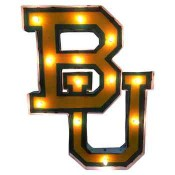 Baylor Collegiate Metal Sign with Lights