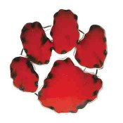 Clemson Paw Collegiate Metal Sign