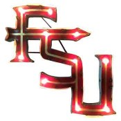 FSU Collegiate Metal Sign with Lights
