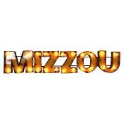 Missouri Mizzou Collegiate Metal Sign with Lights