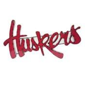 Nebraska Huskers Collegiate Metal Sign