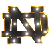 Notre Dame Collegiate Metal Sign with Lights