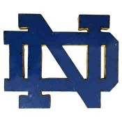 Notre Dame Collegiate Metal Sign