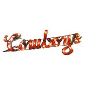 Oklahoma State Cowboys Collegiate Metal Sign with Lights