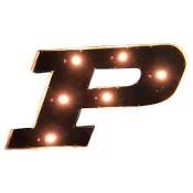 Purdue Collegiate Metal Sign with Lights