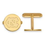 UNC Sterling Silver Yellow Gold Flash Plated Cufflinks