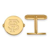 FSU Sterling Silver Yellow Gold Flash Plated Cufflinks