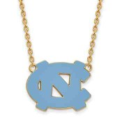 UNC Sterling Silver Yellow Gold Flash Plated Pendant
