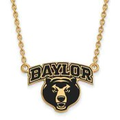 Baylor Sterling Silver Yellow Gold Flash Plated Pendant