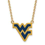WVU Sterling Silver Yellow Gold Flash Plated Pendant