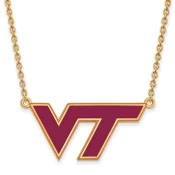 VT Sterling Silver Yellow Gold Flash Plated Pendant