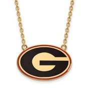 UGA Sterling Silver Yellow Gold Flash Plated Pendant