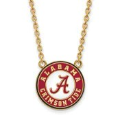 Alabama Sterling Silver Yellow Gold Flash Plated Pendant