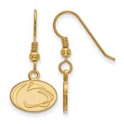 Penn State Nittany Lions Gold Flash Plated Sterling Silver Dangle Earrings