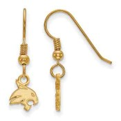 Texas State Bobcats Gold Flash Plated Sterling Silver Dangle Earrings