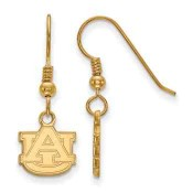Auburn Tigers Gold Flash Plated Sterling Silver Dangle Earrings