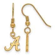 Alabama Crimson Tide Gold Flash Plated Sterling Silver Dangle Earrings