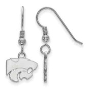Kansas State Wildcats Sterling Silver Dangle Earrings