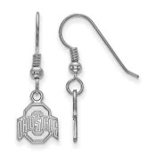 Ohio State Buckeyes Sterling Silver Dangle Earrings