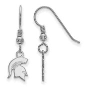 Michigan State Spartans Sterling Silver Dangle Earrings