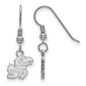 Kansas Jayhawks Sterling Silver Dangle Earrings