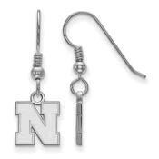 Nebraska Huskers Sterling Silver Dangle Earrings