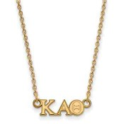 Kappa Alpha Theta Gold Flash Plated Sterling Silver Necklace