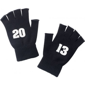 2013 Black Knit Fingerless Gloves
