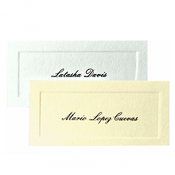 Name Cards (in boxes of 50, 100, or 150)