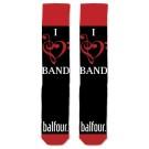 I Love Band Socks